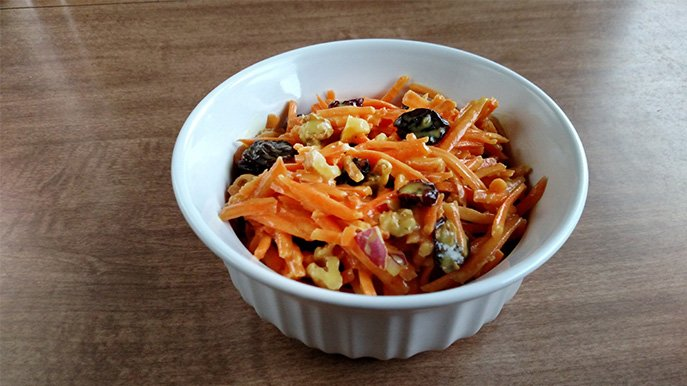 sweet carrot salad recipe
