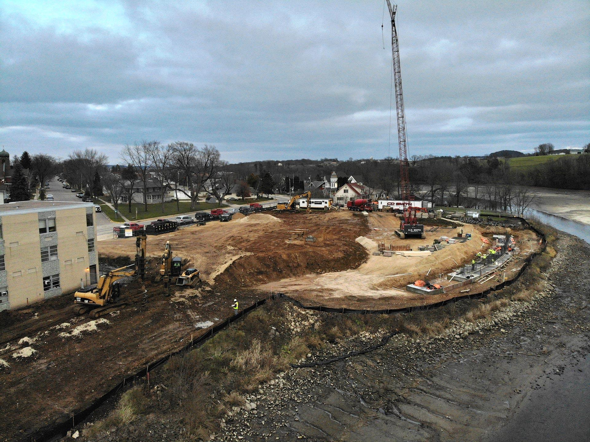 Contractor C. D. Smith makes great progress in first weeks