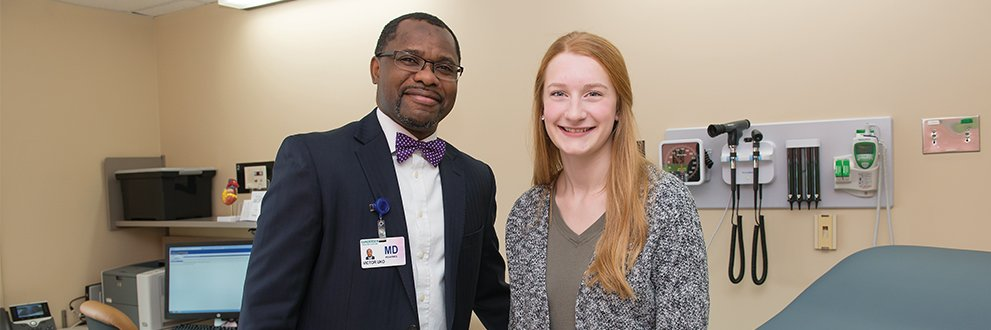 Anna Reed and Dr. Uko