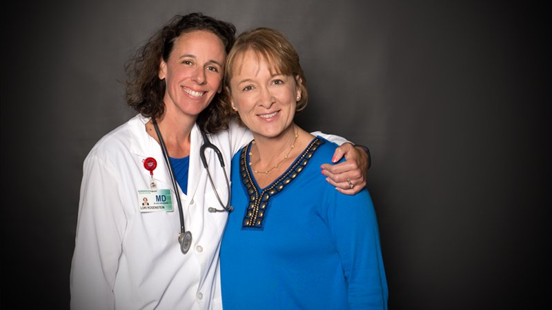 Carrie Lapham with Lori Rosenstein, MD