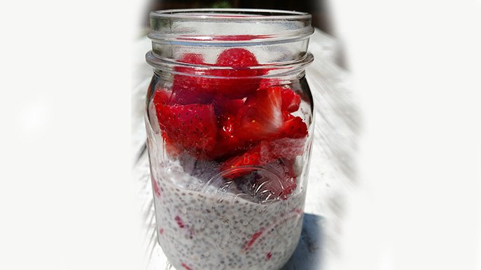 easy vanilla maples chia pudding with berries recipe