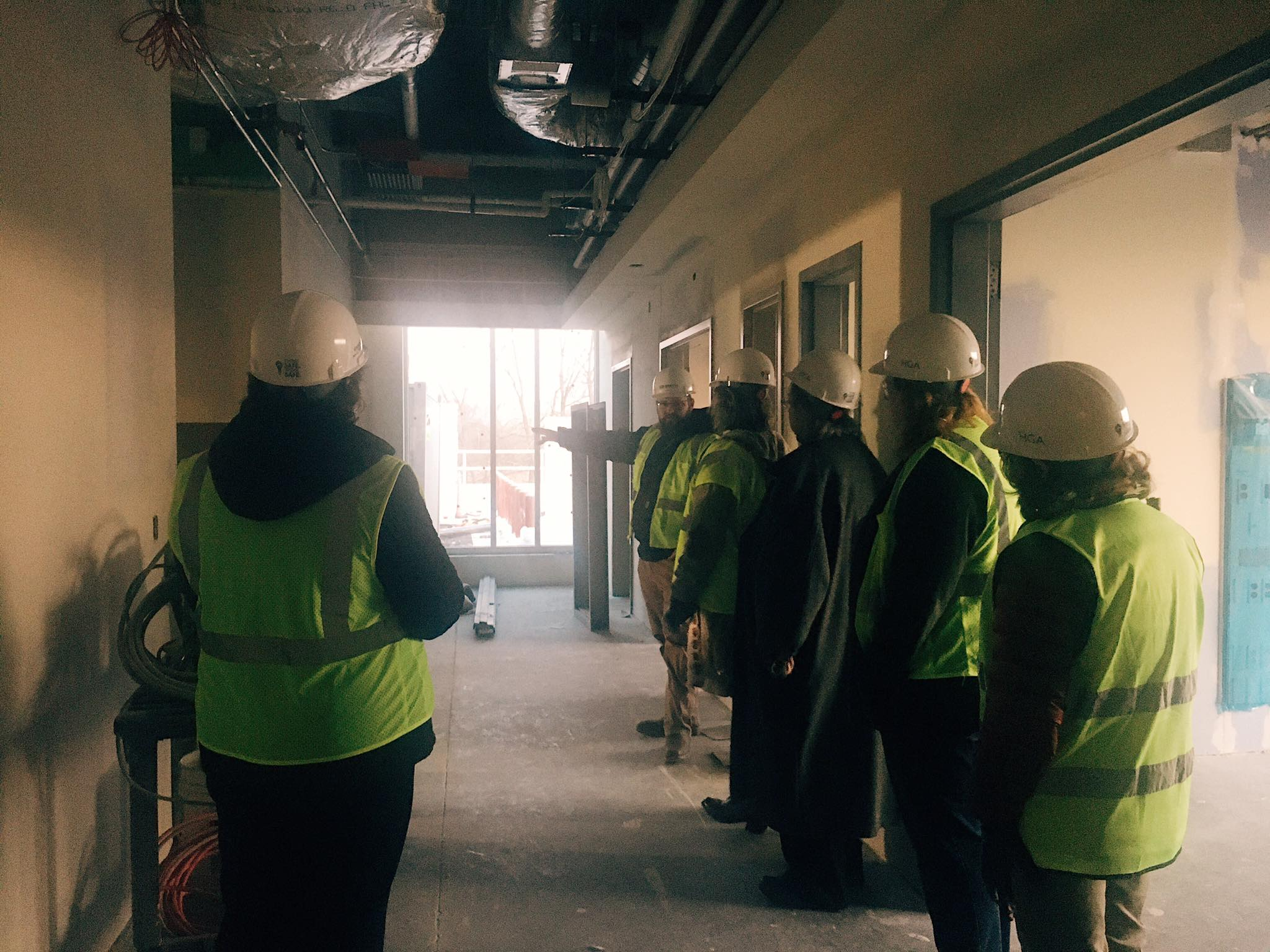 Patient and family advisory group tours the new facility.