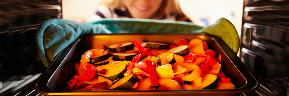 cooking roasted vegetables