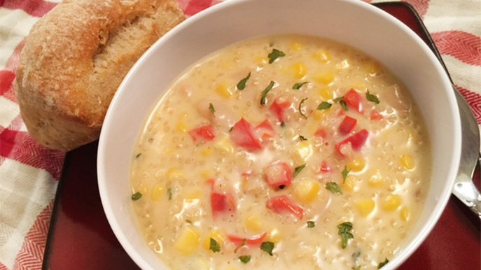 quinoa corn chowder recipe