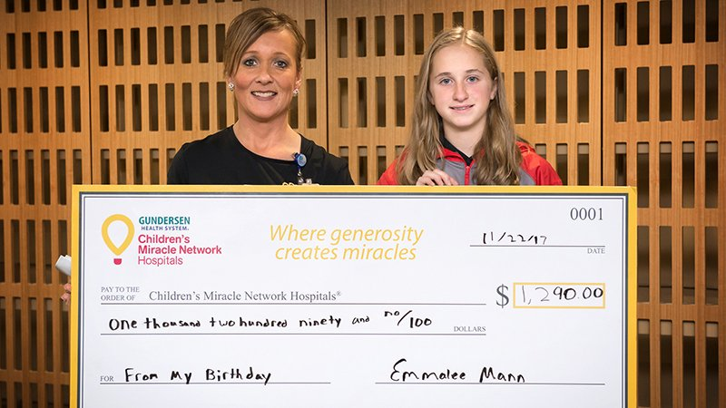 Emmalee Mann donates birthday money