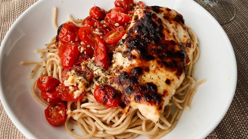 tomato baked chicken with mozzarella recipe