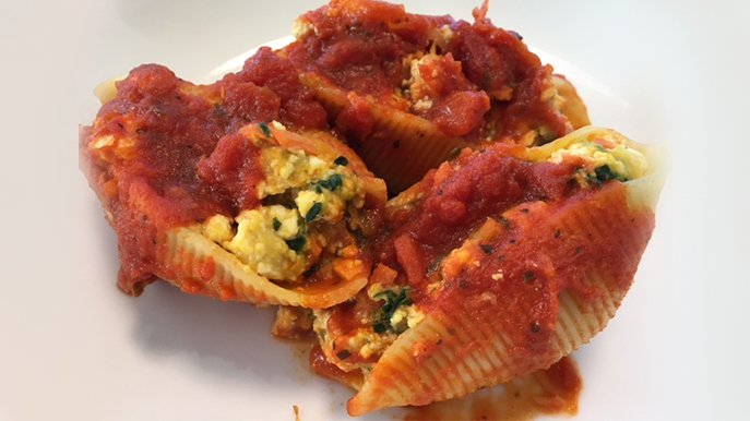 summer veggie stuffed shells