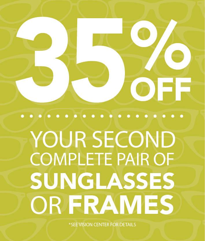 35% off your second pair of glasses at Gundersen Eye Clinics.