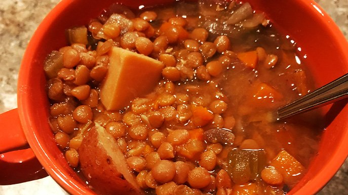 Crockpot lentil soup recipe