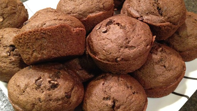 double chocolate pumpkin muffin recipe