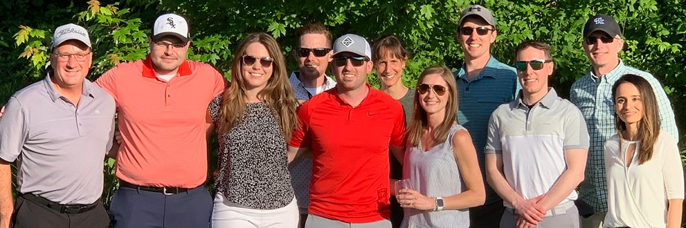 podiatry residents at a golf outing