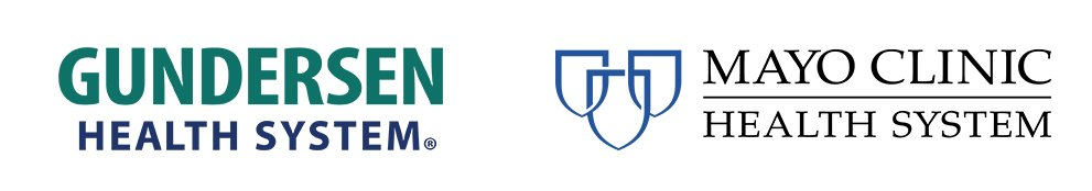 Gundersen Health System and Mayo Clinic Health System logos