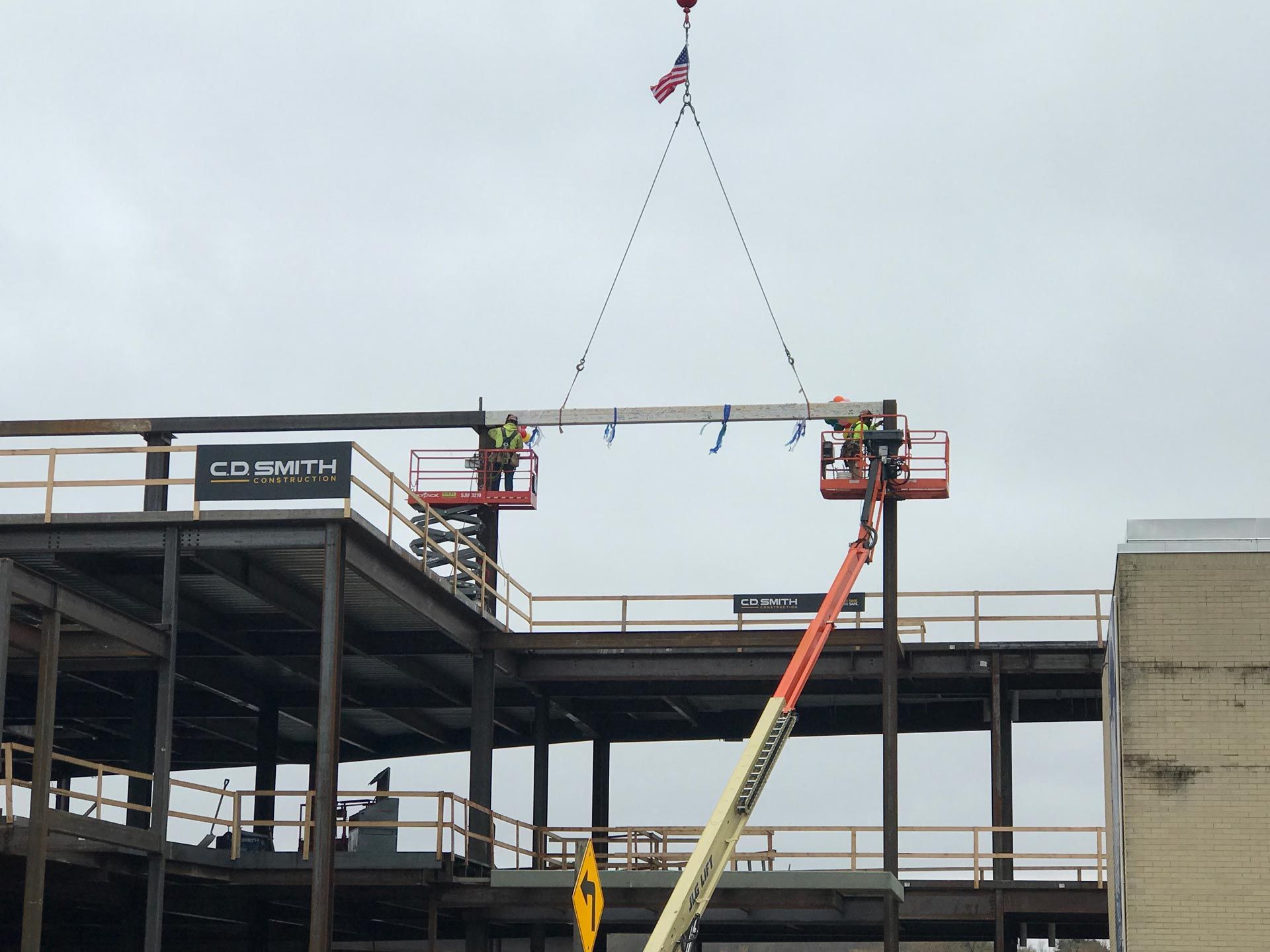 The Final Beam is placed on the new home of Gundersen St. Joseph's Hospital and Clinics