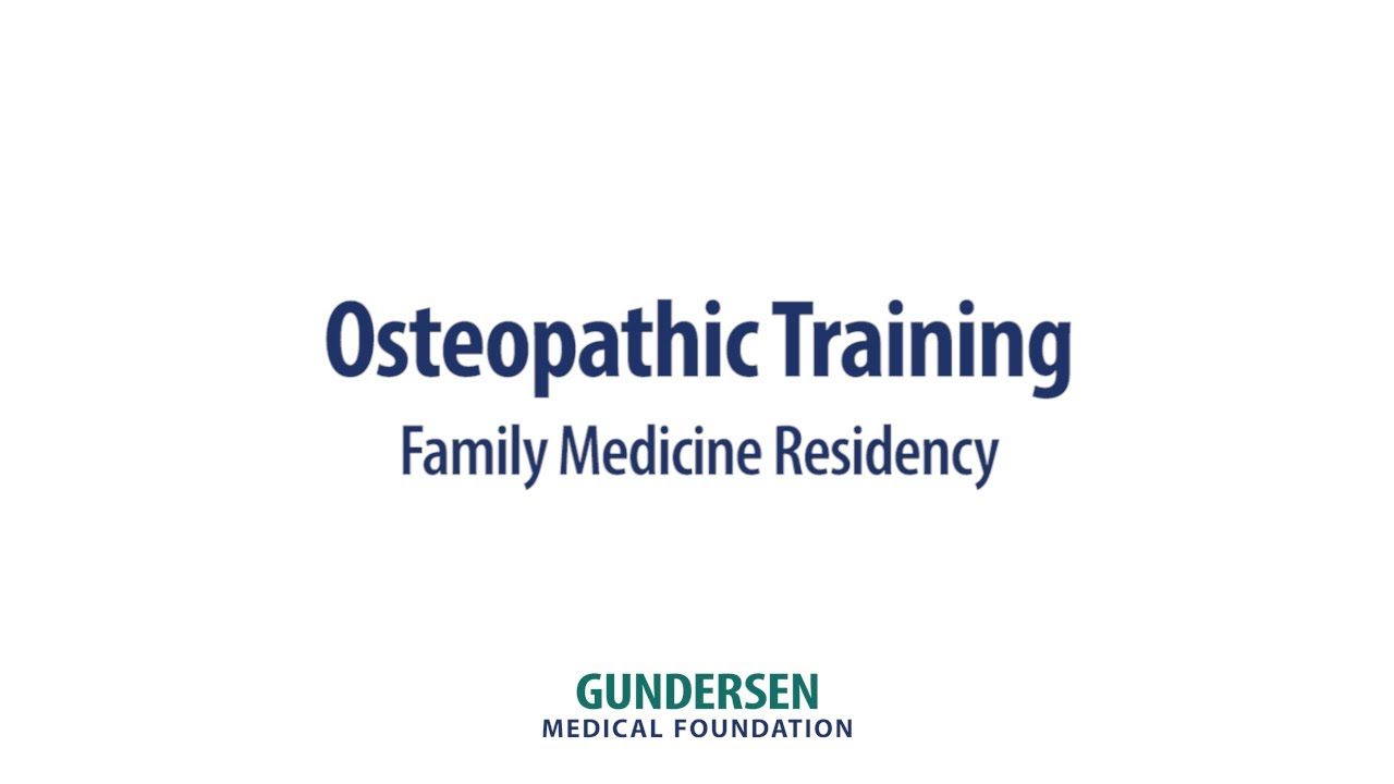 Osteopathic training