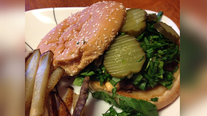Vegetarian 'Big Mac' burger recipe
