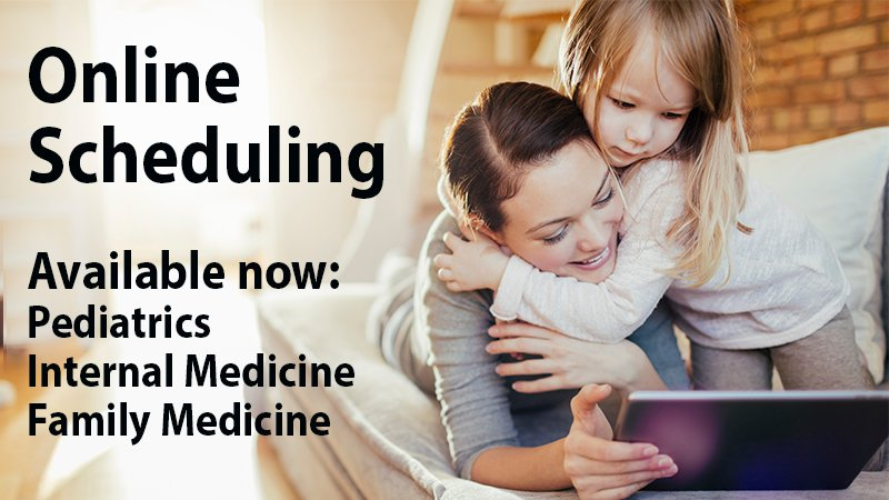 Online scheduling now available for primary care.