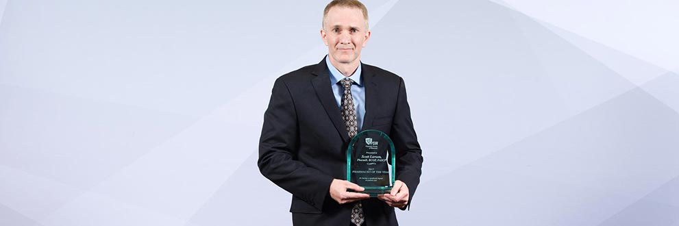 Gundersen St. Joseph's Hospital and Clinics, Scott Larson named Wisconsin Pharmacist of the Year