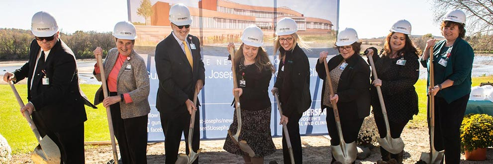 Members of Gundersen Health System and Gundersen St. Joseph's Leadership break ground in Hillsboro, Wis.