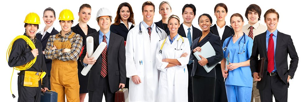 Business health photo with multiple occupations